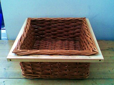 Kitchen drawer square willow basket