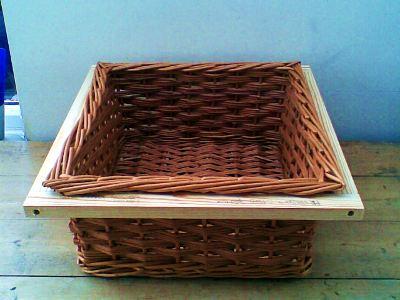 Kitchen drawer square willow basket