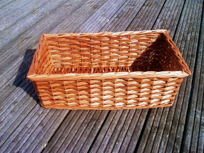 Kitchen storage willow basket