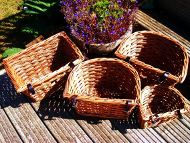 bicycle baskets made from willow